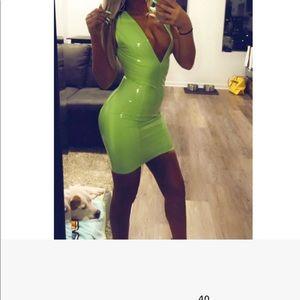 Latex lime green fashion nova💚💚